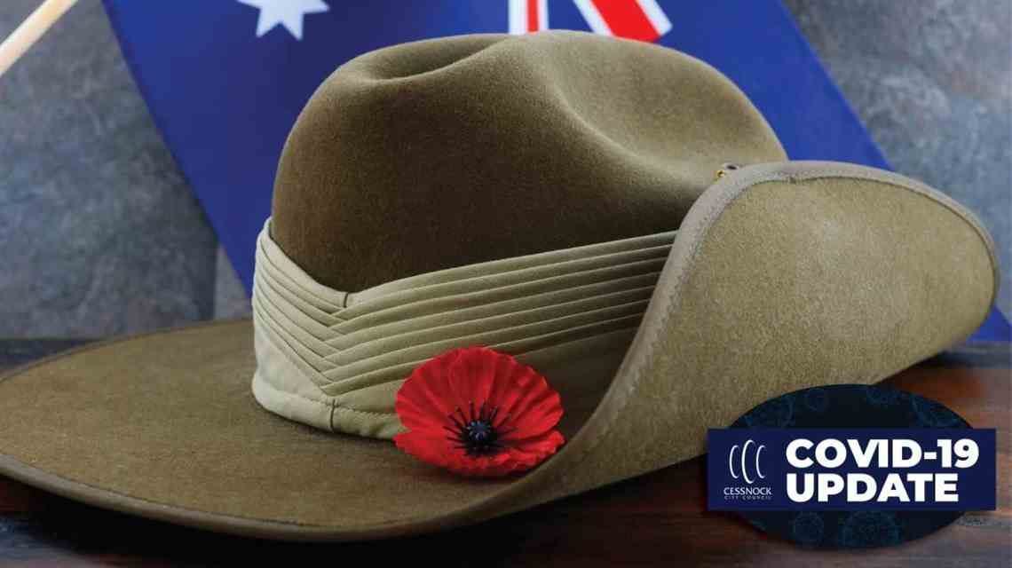ANZAC Day image of diggers hat and poppy